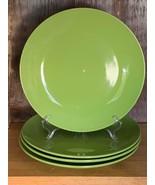 """4 Piece Set Royal Norfolk Greenbrier International 10.75"""" Green Dinner P... - $37.61"""