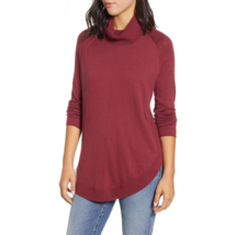 Caslon Womens Red Long Sleeve Pullover Turtleneck Tunic Sweater New XS - $23.71