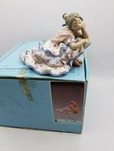 Lladro Deep In Thought #5389 - Flamenco Girl in Polka Dot Dress w/ Box - $232.60