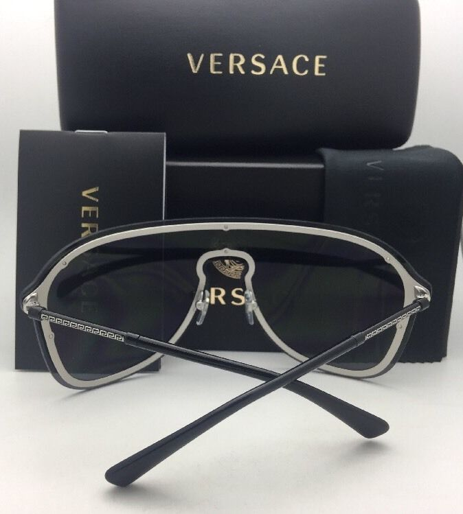 a521080aaf New VERSACE Sunglasses VE 2180 1000 80 125 and 10 similar items. 57