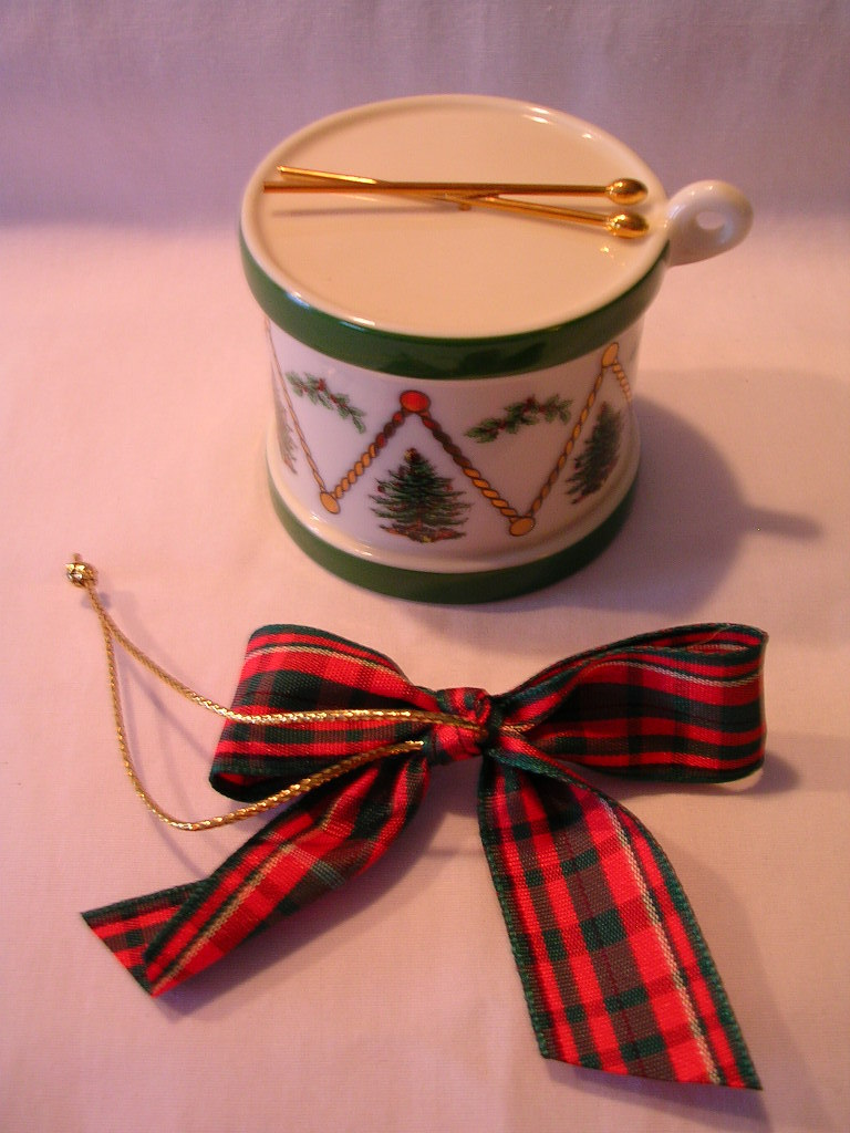 Spode Drum Christmas Tree Ornament - Other
