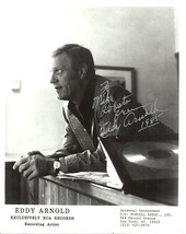 Eddy Arnold (d. 2008) Signed Autographed Vintage Glossy 8x10 Photo - $29.99
