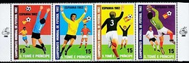 ST.THOMAS 1982 FOOTBALL CUP  MNH SPORTS, SOCCER, PAINTINGS - $1.87