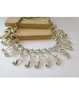 Vintage Sarah Coventry Nouveau Style Silver Fringe Choker Necklace H42 - $14.84
