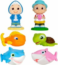 CoComelon Bath Squirter Toys, 6 Pieces - Includes JJ, Baby Shark, Mommy ... - $28.70
