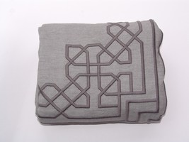 Hotel Collection Fretwork Collection KING Duvet Cover Heather Gray  $535 - $147.51