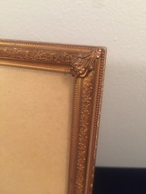 "Vintage 40s gold ornate 8"" x 10"" frame with easel back image 2"