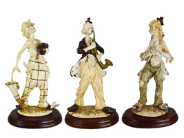 Vintage Collection of Performing Music Hobo Clown Porcelain Statue - Set... - $289.00