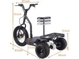 MotoTec Electric Trike 48v 1200w MT-TRK-1200 Scooter 3 Wheel Personal Transport image 7