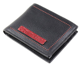 Calvin Klein Ck Men's Leather Billfold Id Wallet With Removable Card Case image 2