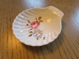 """Royal Worcester Porcelain Shell Pin Dish Made In England Pink Rose 5"""" - $8.86"""