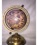 Vintage Old World Globe Zodiac Horoscope Spinning Globe Brass Stand Pink - $34.64