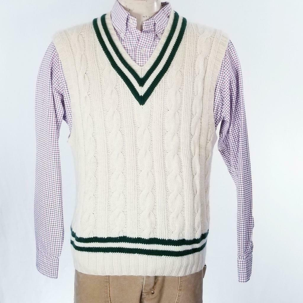 Primary image for VTG Polo Ralph Lauren 100% Cashmere Cable Knit Sweater Vest Sz XL EUC