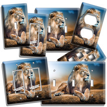 King Of The Jungle Great African Lion Light Switch Outlet Wall Plates Room Decor - $10.22+