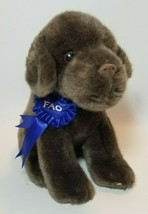 FAO Schwarz  2012 Toys R Us Chocolate Lab Labrador Puppy Plush  Blue Rib... - $19.75