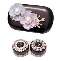 Leather Contact Lens Case Eye Care Kit Holder Personality Gift #04 - $16.54