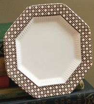 "NIKKO CLASSIC COLLECTION BREAD 6.5""W PLATE CANE BROWN OCTAGONAL JAPAN C.... - $16.99"