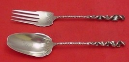 "Reverse Twist #8 by Whiting Sterling Silver Salad Serving Set 2pc 9 1/2"" - $369.55"