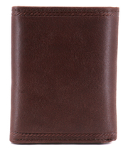Nautica Men's Genuine Vintage Leather Credit Card Id Trifold Wallet image 13