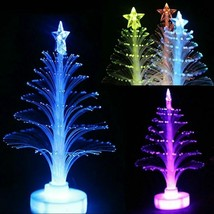 Christmas Fiber Led Optic Light Lamp Changing Color Xmas Tree Decor Orna... - $9.89