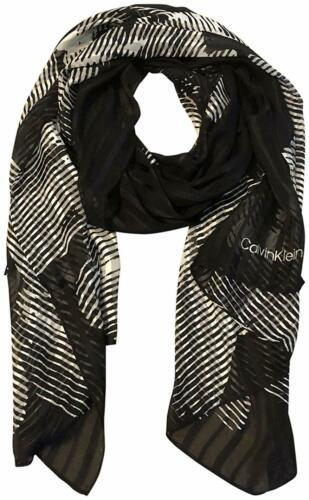 Primary image for Calvin Klein Women's Graphic Floral Chiffon Long Scarf (Black/White,  One Size)