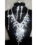NP07 110 Drag Queen Sparkling Crystal Necklace Set - $19.99