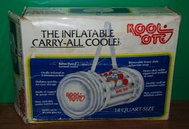 VINTAGE RARE!! KOOL TOTE Inflatable Carry-All Cooler 14 quarts, strap zi... - £16.53 GBP