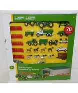 John Deere TBEK46276 Farm Toy Playset 70 Piece Machine Shed - £31.70 GBP