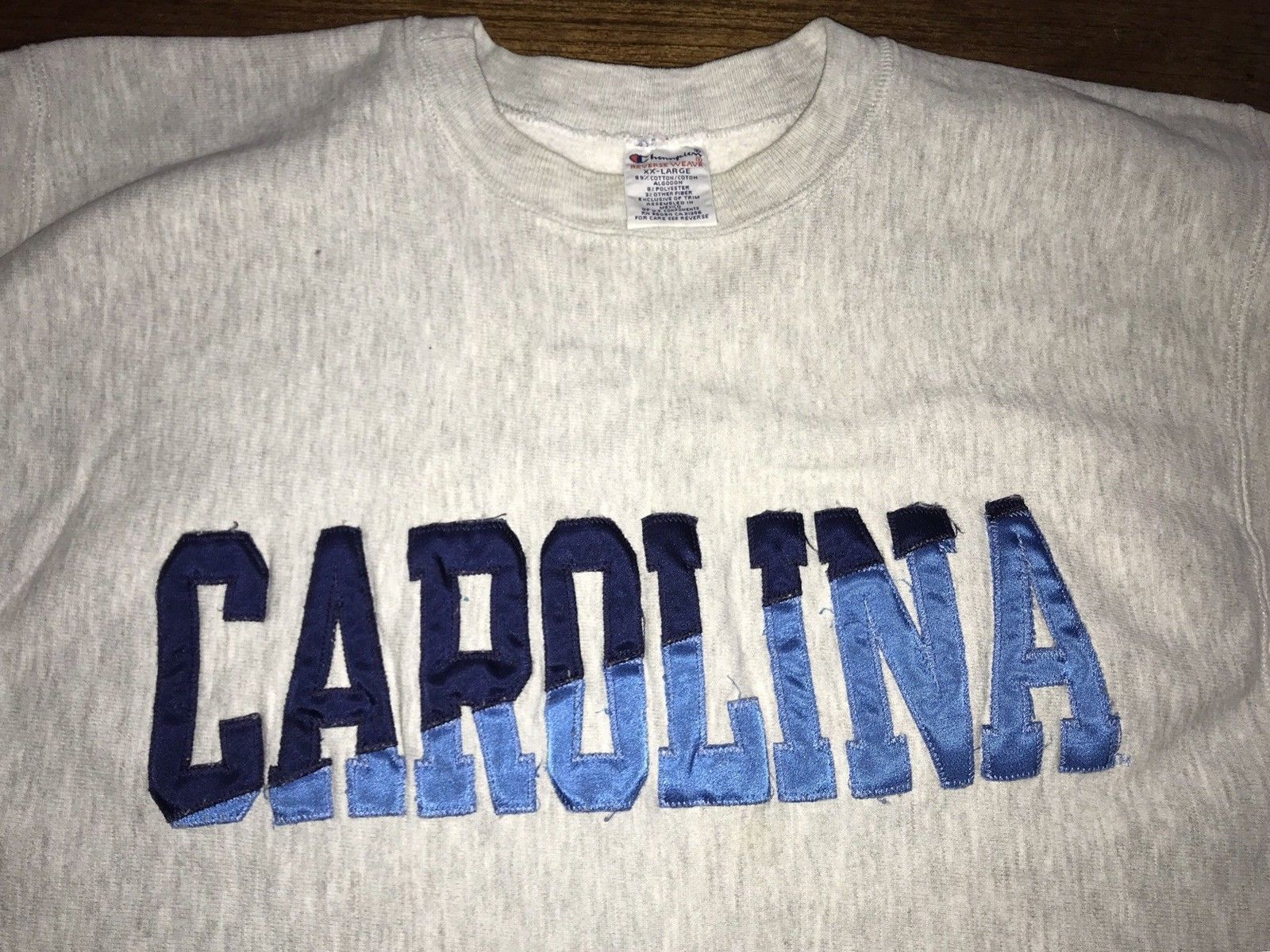 North Carolina UNC Tarheels Champion Reverse Weave SweatShirt size XXL Mint