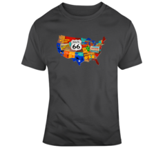 Rt 66 Trail On Map T Shirt - $26.99