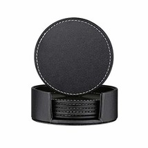 Thipoten Set of 6 Leather Coasters, Protect Furniture from Water Marks S... - £9.22 GBP