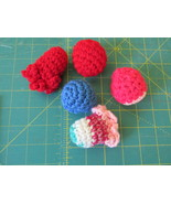 5 Catnip Crocheted Cat Toys  - $4.99
