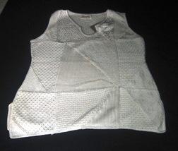 White sleeveless shirt, ecological Pima Cott    - $41.70