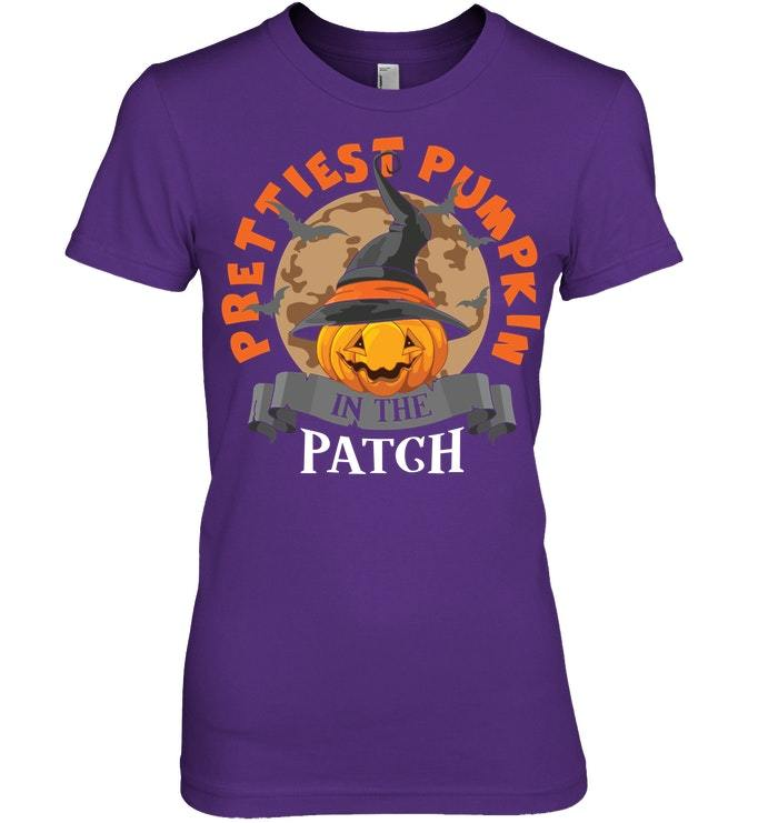 Funny Halloween Tshirt Prettiest Pumpkin In The Patch