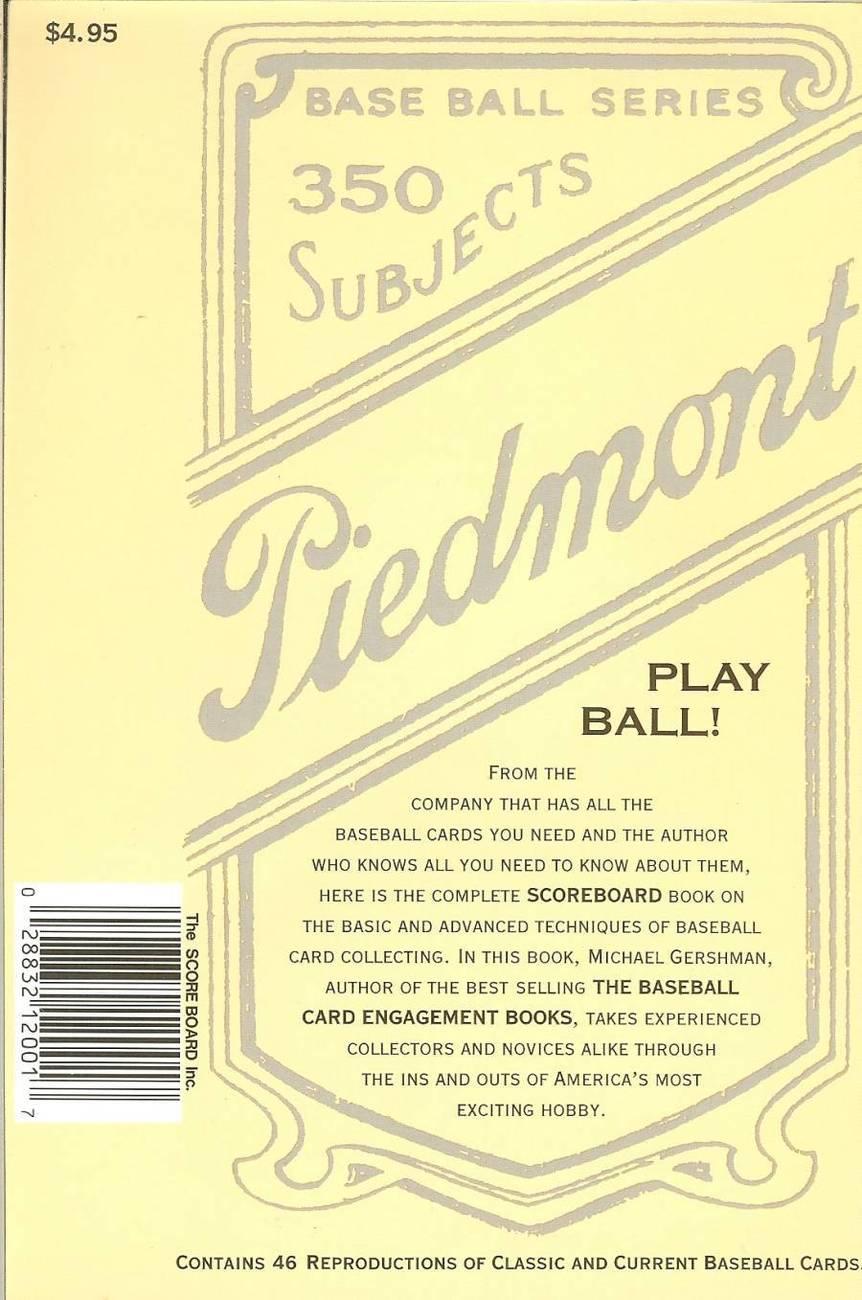 the score board book of baseball cards 1987 michael gershman rare