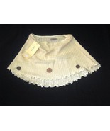 White little Poncho cape, ecological Pyma cotton - $42.00