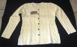 White longsleeve crew neck shirt, ecological pyma cotton   - $45.60