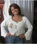 White longsleeve shirt, ecological pyma cotton    - $41.70