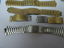 SEIKO LOT OF 6 VINTAGE WATCH BANDS AND PARTS FOR RESTORATION OR PARTS - $144.16