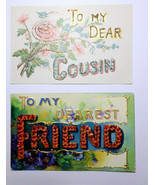 GR57 Lot of 5 To my Dear Aunt Uncle Cousin Wife Friend Div Back Postcards  - $9.90