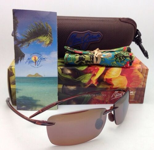MAUI JIM LIGHTHOUSE Sunglasses MJ 423-26 Rootbeer Frames Bronze Polarized Lenses