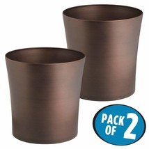 mDesign Round Metal Small Trash Can Wastebasket, Garbage Container Bin f... - $59.60