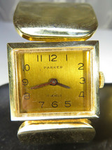 Vintage Ladies Parker Watch Bracelet 17 Jewels Works Gold Tone - $35.00