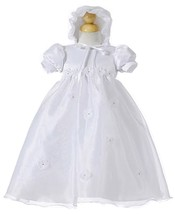 Baby Girl Christening Dressy Holiday Dress w/Daisies Polyester Set Crayo... - $29.99