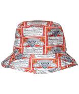 Budweiser Beer Repeating Label Bucket Hat Multi-Color - $28.98