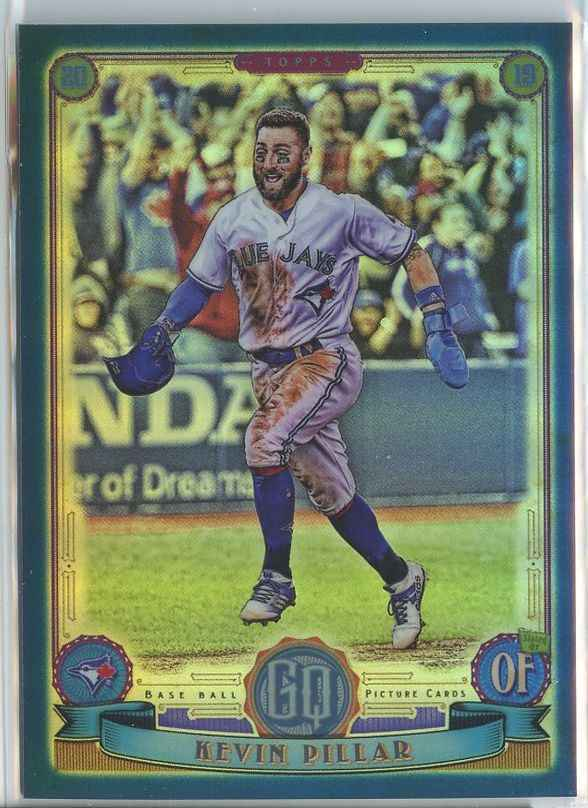 Primary image for KEVIN PILLAR SER# 57/150 2019 Gypsy Queen Chrome Box Topper Indigo Refractor