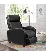 Homall Single Recliner Chair Padded Seat Black PU Leather Living Room So... - $109.70