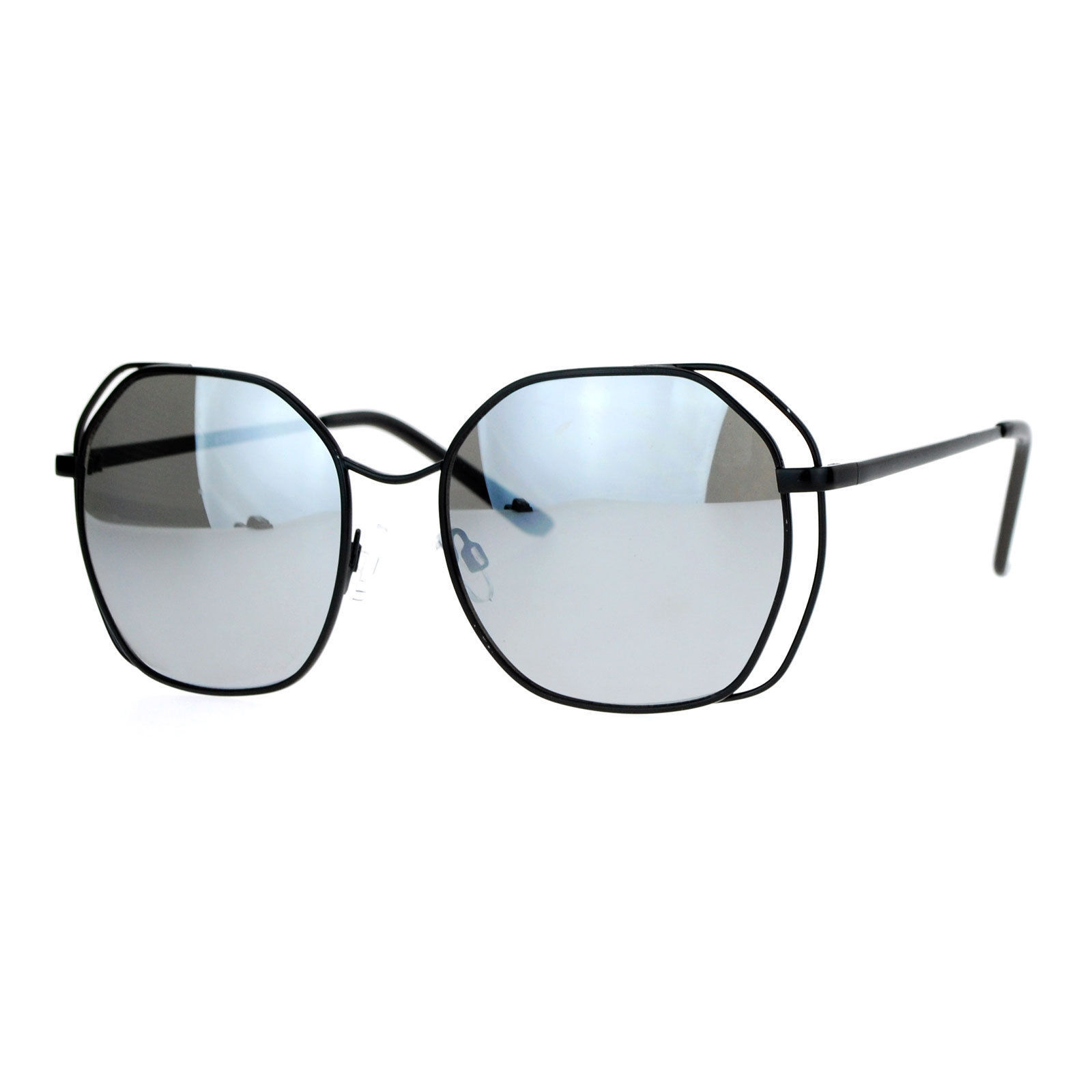 Chic Designer Fashion Sunglasses Womens Square Metal Frame UV 400