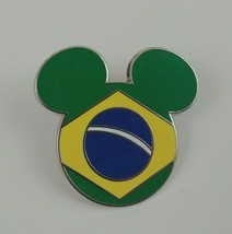 2007 Disney Epcot World Showcase Mickey Head Icon Brazil Trading Pin - $7.69
