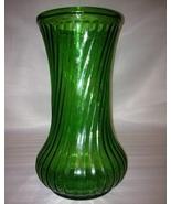 "Hoosier Glass Vase Green Swirl Design;#4090;Large 8½"" tall x 4¼"";IDEAL ... - $9.99"